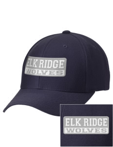Elk Ridge Elementary School Wolves Embroidered Wool Adjustable Cap
