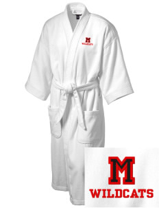 Madison Elementary School Wildcats Embroidered Terry Velour Robe