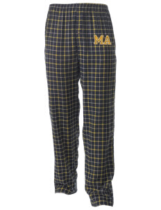 Mill A Elementary School Bobcats Men's Button-Fly Collegiate Flannel Pant with Distressed Applique