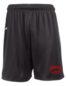 "Pinewood Elementary School Panthers  Russell Men's Mesh Shorts, 7"" Inseam"