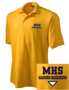 Mariner High School Mariner Marauders Embroidered Men's Jersey Polo