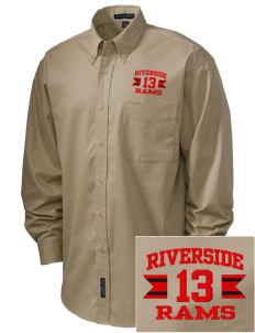 Riverside High School Rams Embroidered Men's Easy-Care Shirt