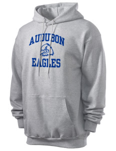 Audubon Elementary School Eagles Men's 7.8 oz Lightweight Hooded Sweatshirt