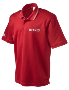 Rochester Middle School Braves adidas Men's ClimaLite Athletic Polo