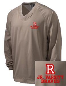 Rochester Middle School Braves Embroidered adidas Men's ClimaProof V-Neck Wind Shirt