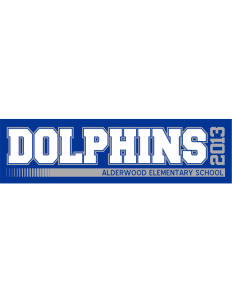 "Alderwood Elementary School Dolphins Bumper Sticker 11"" x 3"""
