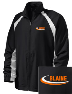 Blaine High School Blaine Borderites  Embroidered Men's Full Zip Warm Up Jacket