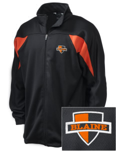 Blaine High School Blaine Borderites Embroidered Holloway Men's Full-Zip Track Jacket