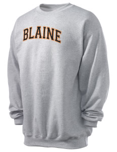 Blaine High School Blaine Borderites Men's 7.8 oz Lightweight Crewneck Sweatshirt