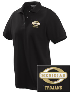 Meridian High School Trojans Embroidered Women's Pique Polo