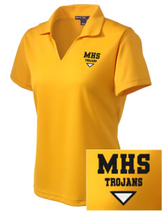 Meridian High School Trojans Embroidered Women's Dri Mesh Polo