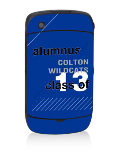 Colton High School Wildcats Black Berry 8530 Curve Skin
