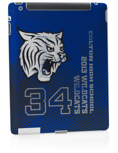 Colton High School Wildcats Apple iPad 2 Skin