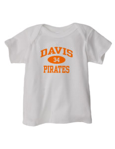 Davis High School Pirates  Baby Lap Shoulder T-Shirt