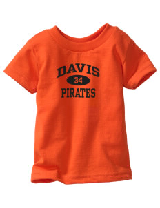Davis High School Pirates  Toddler Jersey T-Shirt