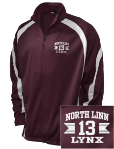 North Linn Elementary School Lynx Embroidered Holloway Men's Tricotex Warm Up Jacket