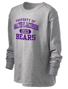Walter E Jacobson Elementary School Bears Kid's 6.1 oz Long Sleeve Ultra Cotton T-Shirt