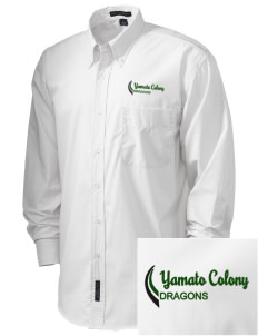 Yamato Colony Elementary School Dragons  Embroidered Men's Easy Care, Soil Resistant Shirt