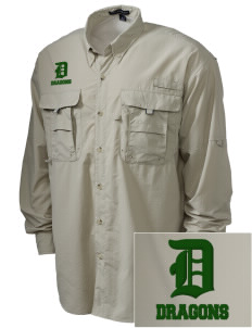 Yamato Colony Elementary School Dragons Embroidered Men's Explorer Shirt with Pockets