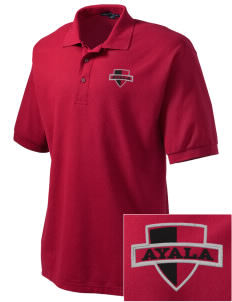 Ayala High School Bulldogs Embroidered Men's Silk Touch Polo
