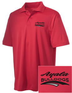 Ayala High School Bulldogs Embroidered Men's Micro Pique Polo