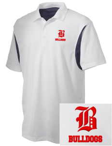 Ayala High School Bulldogs Embroidered Men's Back Blocked Micro Pique Polo
