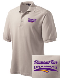 Diamond Bar High School Brahmas Embroidered Men's Silk Touch Polo