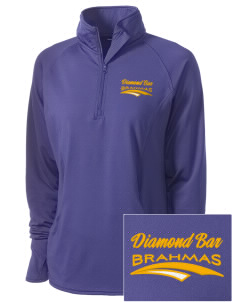 Diamond Bar High School Brahmas Embroidered Ladies Stretched Half-Zip Pullover