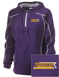 Diamond Bar High School Brahmas Embroidered Russell Women's Prestige 1/4 Zip Jacket