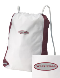 West Hills Intermediate School West Hill Cougars Embroidered Holloway Home and Away Cinch Bag