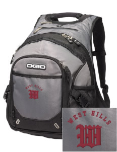 West Hills Intermediate School West Hill Cougars Embroidered OGIO Fugitive Backpack