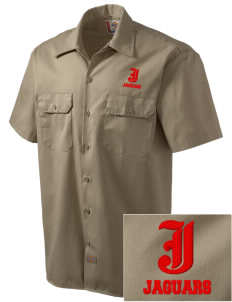 John Hay Elementary School Jaguars Embroidered Dickies Men's Short-Sleeve Workshirt