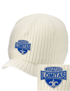 Lomitas Elementary School Leopards Embroidered Knit Beanie with Visor