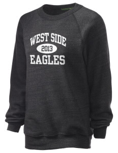 West Side High School Eagles Unisex Alternative Eco-Fleece Raglan Sweatshirt