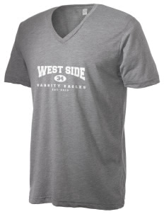 West Side High School Eagles Alternative Men's 3.7 oz Basic V-Neck T-Shirt