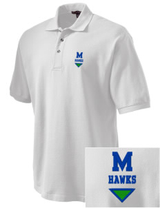 Meadowview Elementary School Hawks Embroidered Tall Men's Pique Polo