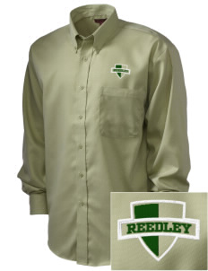 Reedley High School Pirates  Embroidered Men's Nailhead Non-Iron Button-Down