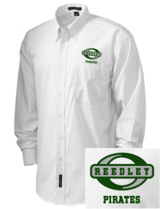 Reedley High School Pirates  Embroidered Men's Easy Care, Soil Resistant Shirt