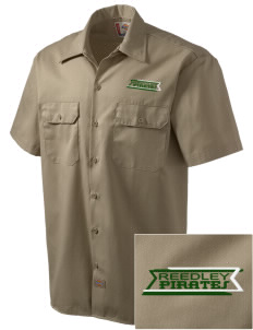 Reedley High School Pirates Embroidered Dickies Men's Short-Sleeve Workshirt