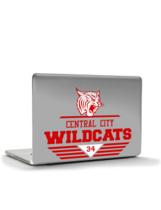 "Central City Community High School Wildcats Apple Macbook Pro 17"" (2008 Model) Skin"