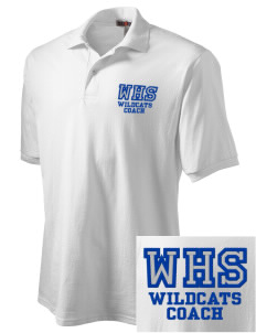 Wilmington High School Wildcats Embroidered Men's Jersey Polo