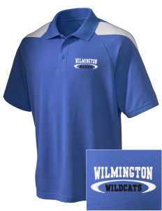 Wilmington High School Wildcats Embroidered Holloway Men's Frequency Performance Pique Polo