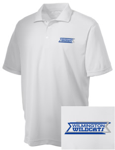 Wilmington High School Wildcats Embroidered Men's Double Mesh Polo