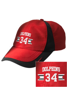 Dunlap Elementary School Dolphins Embroidered Nike Golf Colorblock Cap