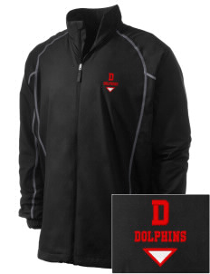 Dunlap Elementary School Dolphins Embroidered Men's Nike Golf Full Zip Wind Jacket