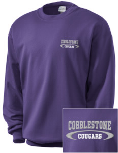 Cobblestone Elementary School Cougars Embroidered Men's Crewneck Sweatshirt