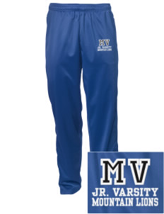 Meadow View School Mountain Lions Embroidered Men's Tricot Track Pants