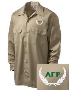 Alpha Gamma Rho Embroidered Dickies Men's Long-Sleeve Workshirt