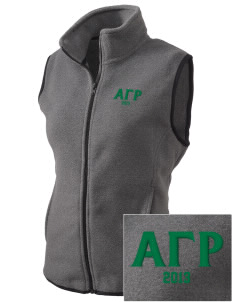 Alpha Gamma Rho Embroidered Women's Fleece Vest