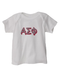 Alpha Sigma Phi  Baby Lap Shoulder T-Shirt